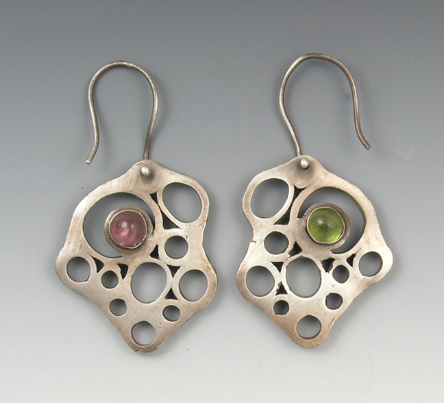 Silver washer earrings